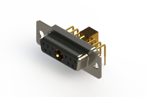 630-11W1640-7T1 - Right-angle Power Combo D-Sub Connector