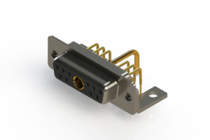 630-11W1650-1N4 - Right-angle Power Combo D-Sub Connector