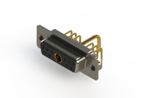 630-11W1650-1T2 - Right-angle Power Combo D-Sub Connector