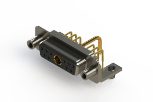 630-11W1650-1T5 - Right-angle Power Combo D-Sub Connector