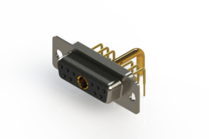 630-11W1650-2N1 - Right-angle Power Combo D-Sub Connector