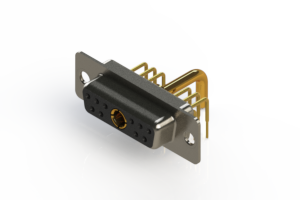 630-11W1650-2T1 - Right-angle Power Combo D-Sub Connector
