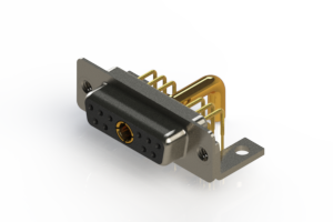 630-11W1650-4T4 - Right-angle Power Combo D-Sub Connector