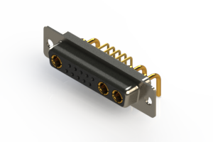 630-13W3240-1N1 - Right-angle Power Combo D-Sub Connector