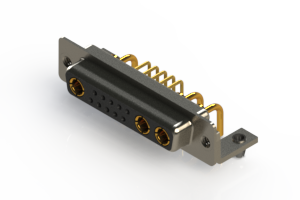 630-13W3240-1N3 - Right-angle Power Combo D-Sub Connector