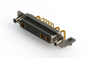 630-13W3240-1N5 - Right-angle Power Combo D-Sub Connector