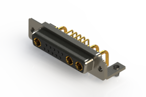 630-13W3240-1NB - Right-angle Power Combo D-Sub Connector