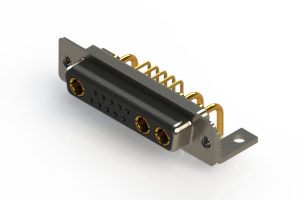 630-13W3240-1NC - Right-angle Power Combo D-Sub Connector