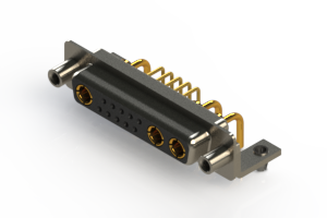 630-13W3240-1ND - Right-angle Power Combo D-Sub Connector