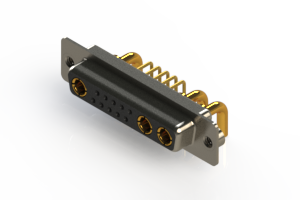 630-13W3240-2N2 - Right-angle Power Combo D-Sub Connector