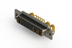 630-13W3240-2NA - Right-angle Power Combo D-Sub Connector