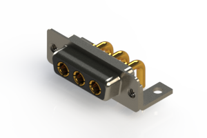 630-3W3-240-2NC - Right-angle Power Combo D-Sub Connector