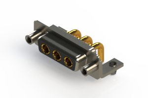 630-3W3-240-2ND - Right-angle Power Combo D-Sub Connector