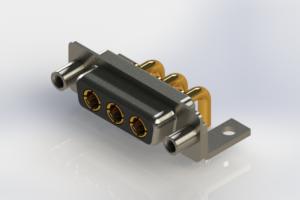630-3W3-240-2NE - Right-angle Power Combo D-Sub Connector