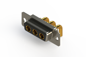 630-3W3-240-2T1 - Right-angle Power Combo D-Sub Connector