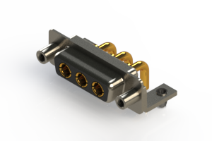 630-3W3-240-2T5 - Right-angle Power Combo D-Sub Connector