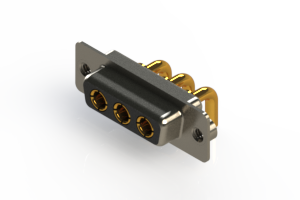 630-3W3-240-2TA - Right-angle Power Combo D-Sub Connector