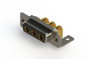 630-3W3-240-3N4 - Right-angle Power Combo D-Sub Connector