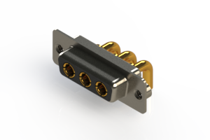 630-3W3-240-3NA - Right-angle Power Combo D-Sub Connector