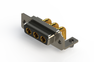 630-3W3-240-3NB - Right-angle Power Combo D-Sub Connector