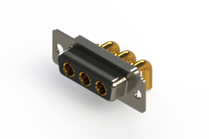 630-3W3-240-3T1 - Right-angle Power Combo D-Sub Connector