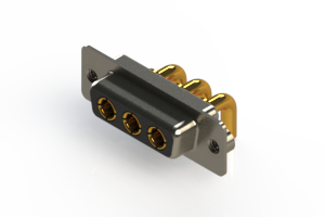 630-3W3-240-3T2 - Right-angle Power Combo D-Sub Connector