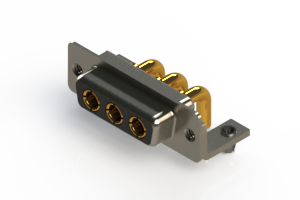 630-3W3-240-3T3 - Right-angle Power Combo D-Sub Connector