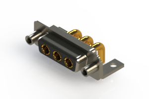 630-3W3-240-3TE - Right-angle Power Combo D-Sub Connector