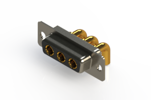 630-3W3-240-4N1 - Right-angle Power Combo D-Sub Connector