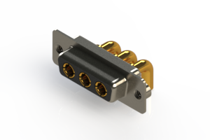 630-3W3-240-4N2 - Right-angle Power Combo D-Sub Connector
