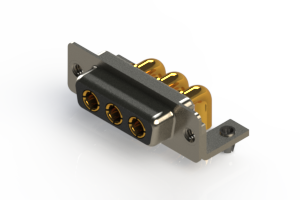 630-3W3-240-4NB - Right-angle Power Combo D-Sub Connector