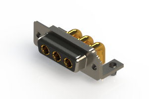 630-3W3-240-4T3 - Right-angle Power Combo D-Sub Connector