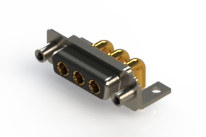 630-3W3-240-4T6 - Right-angle Power Combo D-Sub Connector