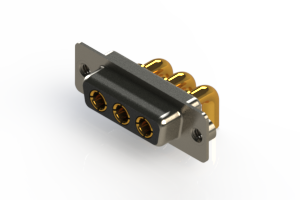 630-3W3-240-4TA - Right-angle Power Combo D-Sub Connector