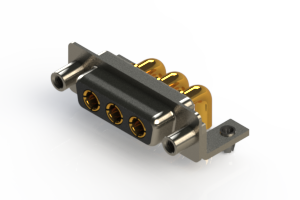 630-3W3-240-4TD - Right-angle Power Combo D-Sub Connector