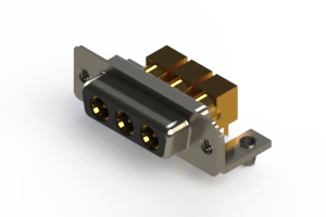 630-3W3-240-5NB - Right-angle Power Combo D-Sub Connector