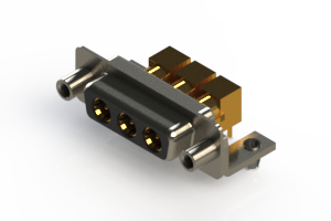 630-3W3-240-5ND - Right-angle Power Combo D-Sub Connector