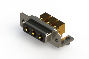 630-3W3-240-5T3 - Right-angle Power Combo D-Sub Connector