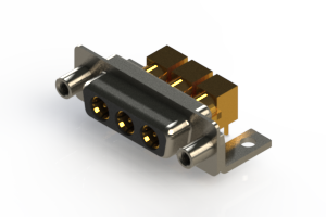 630-3W3-240-5T6 - Right-angle Power Combo D-Sub Connector