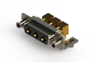 630-3W3-240-5TD - Right-angle Power Combo D-Sub Connector