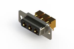 630-3W3-240-7N1 - Right-angle Power Combo D-Sub Connector