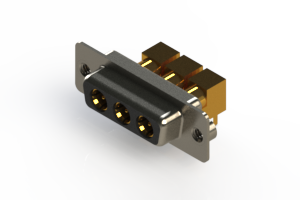 630-3W3-240-7TA - Right-angle Power Combo D-Sub Connector