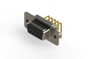630-M09-240-BN2 - Right Angle D-Sub Connector