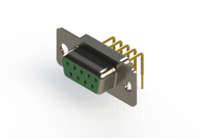 630-M09-240-GN1 - Right Angle D-Sub Connector