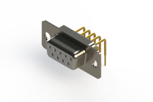630-M09-340-WT1 - Right Angle D-Sub Connector