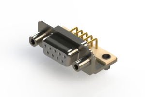 630-M09-340-WT5 - Right Angle D-Sub Connector