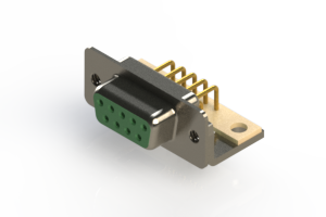 630-M09-640-GN4 - Right Angle D-Sub Connector