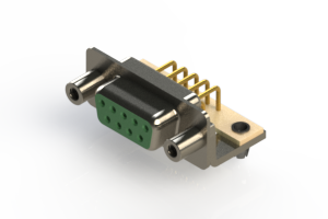 630-M09-640-GN5 - Right Angle D-Sub Connector