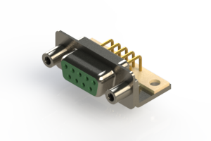 630-M09-640-GN6 - Right Angle D-Sub Connector