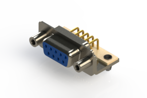 630-M09-640-LT5 - Right Angle D-Sub Connector